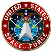 USA SPACE FORCE Collection US ARMED FORCES American Silver Eagle 2019 Walking Liberty $1 Silver coin Gold plated 1 oz